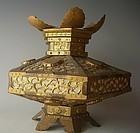 Antique Japanese Hanging Shrine Lantern