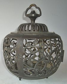 Antique Japanese Bronze Lantern C. 1950
