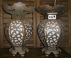 Antique Japanese Temple Lanterns Dated