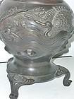 Antique Japanese Bronze Flower Arrangement Vase C.1910