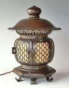 Antique Japanese Zen Buddhist Temple Lantern C.1929