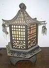Antique Japanese Meiji Period C. 1910 Bronze Lantern