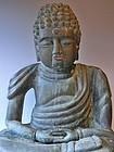 Antique Japanese Edo/Meiji  Period Bronze Buddha