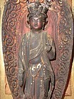 Antique Japanese Edo Period C.1865 Travelling Altar with Kannon