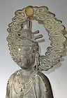 Antique Japanese Large C.1930 Bronze Kannon Signed