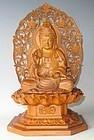 Contemporary Japanese Wood Buddha C.1970