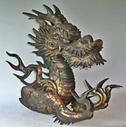 Antique Japanese Edo Period C.1860 Temple Dragon