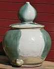 Antique Japanese Shigaraki Meiji Period C.1890 Water Jar