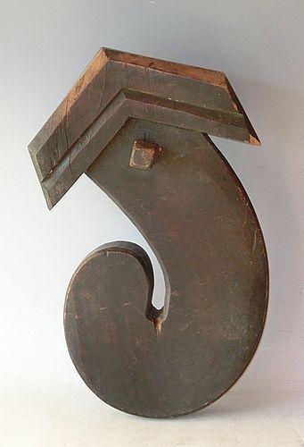 Antique Japanese Jizaikagi Minka Hearth Hook C.1920