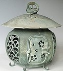 Antique Japanese C. 1920 Bronze Lantern