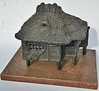 Antique Japanese Bronze Tea Hut Incense Burner