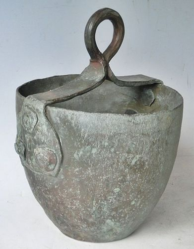 Antique Japanese C.1910 Bronze Well Bucket