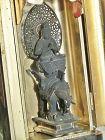 Antique Japanese Zushi Traveling Altar, Buddha on Elephant