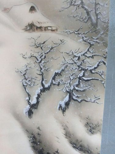Antique Japanese Taisho Period C.1915 Matsue Yobun Snow Painting