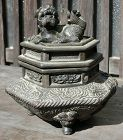 Antique Japanese Bronze 'Koro' Incense Burner C. 1900