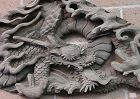 Antique Japanese Early Edo Zen Temple Dragon  Carving C. 1690