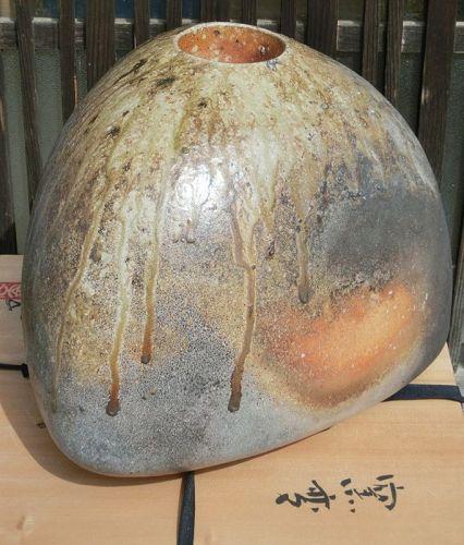 Contemporary Yoshitaka Hasu Wood-Fired Iga Ceramic Vase