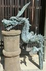 Antique Japanese  C.1860 Bronze Dragon Temple Water Spout