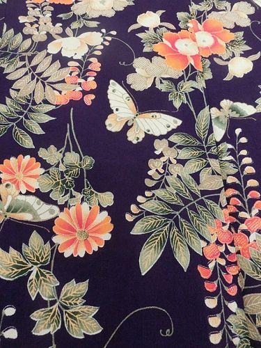 Antique Japanese Chirimen Silk Girl's Kimono C.1900