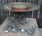 Antique Japanese Bronze Ikebana Flower Vase