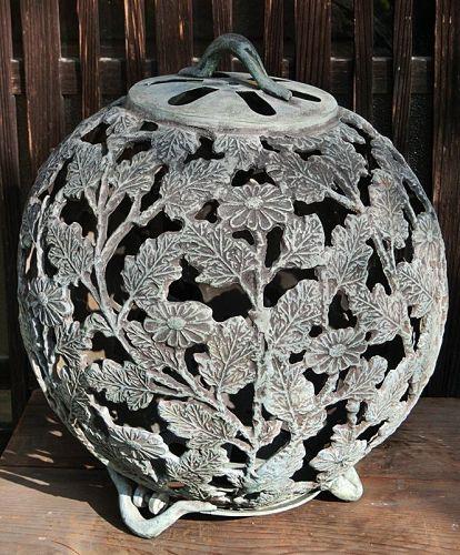 Antique Japanese Bronze Lantern C.1935