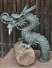 Antique Japanese Bronze Dragon Garden Water Spout