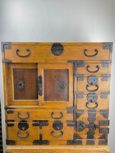 Antique Japanese Small Merchant's Chest