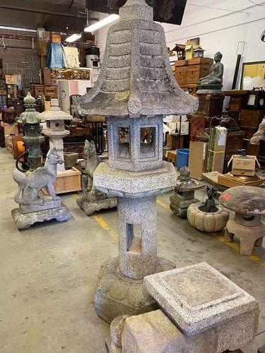 Antique Japanese Rengiji Stone Lantern C. 1925