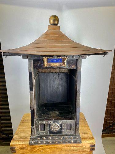 Antique Japanese Edo Period Shrine/Altar w/Copper Roof