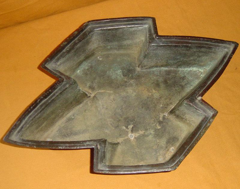 Antique Meiji Period Japanese Bronze Flower Vessel