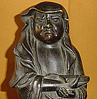 Meiji Period Antique Japanese Bronze Buddhist Daruma