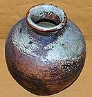 Antique Japanese Tamba Tea Leaf Storage Jar c.1885