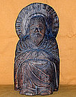 Antique Japanese Mokujiki Monk Carving c.1805