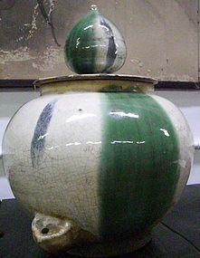 Rare Japanese Antique Shigaraki Soy Jar C.1870