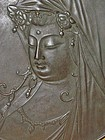 Antique Japanese Bronze Kannon c.1937, Signed