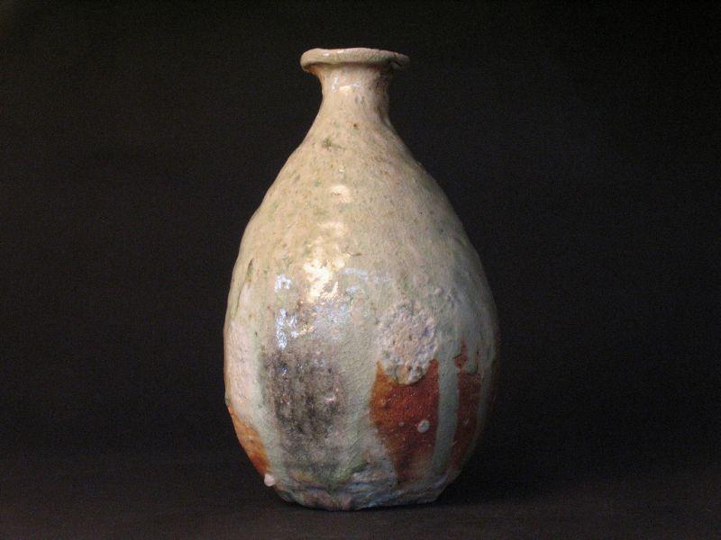Shigaraki  vase by Sadamitsu Sugimoto the great master hand