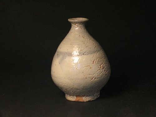 White slip bottle (vase)by Sadamitsu Sugimoto,the great master hand