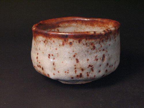 Shino chawan by Masatada Moriwaki the leader in Seto pottery scene