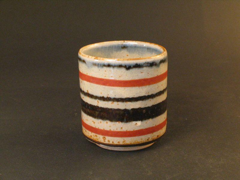 Multiple glaze cup by Shunto Kato the late important artist in Seto
