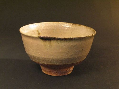 Madara-E-Karatsu(mottle glaze with picture) chawan by Dohei Fujinoki