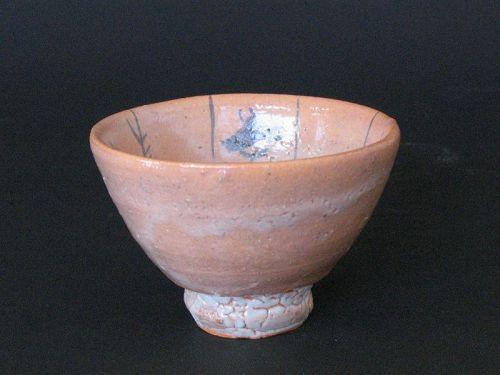 E(picture)-karatsu sake cup by Dohei Fujinoki  popular artist KARATSU