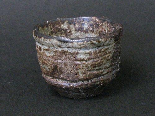 Kurosibu sake cup by Junri Hamada the high-skilled artist MINO