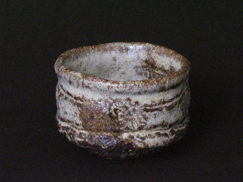 Kuromadara(black&mottle) sake cup by Junri Hamada skilled artist MINO