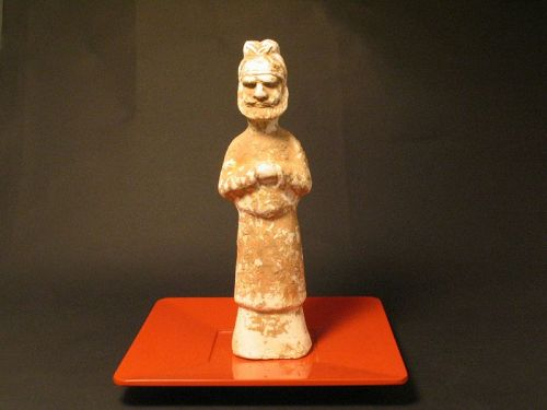 Tang Painted unglazed pottery foreigne delegate figure