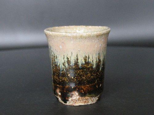Chosen-Karatsu sake cup by Dohei Fujinoki the popular artist KARATSU