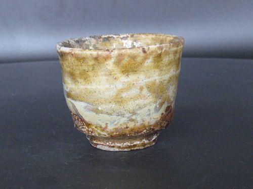 """Madara Karatsu """"Yohen"""" sake cup by Dohei Fujinoki popular artist"""