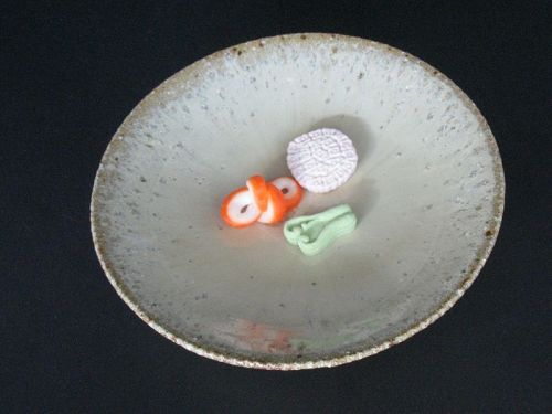 Madara-karatsu Plate by Dohei Fujinoki popular artsit Karatsu ware