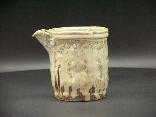 Madara Karatsu Katakuchi lipped bowl by Dohei Fujinoki popular artist