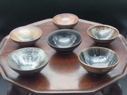 12th~13th century Song dynasty Jianyao small bowls 6types of set