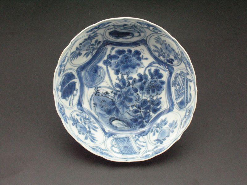 17th MING Jingdezhen blue & white flower pattern small bowl